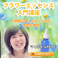 Flower Essns 入門講座顔つきバナー